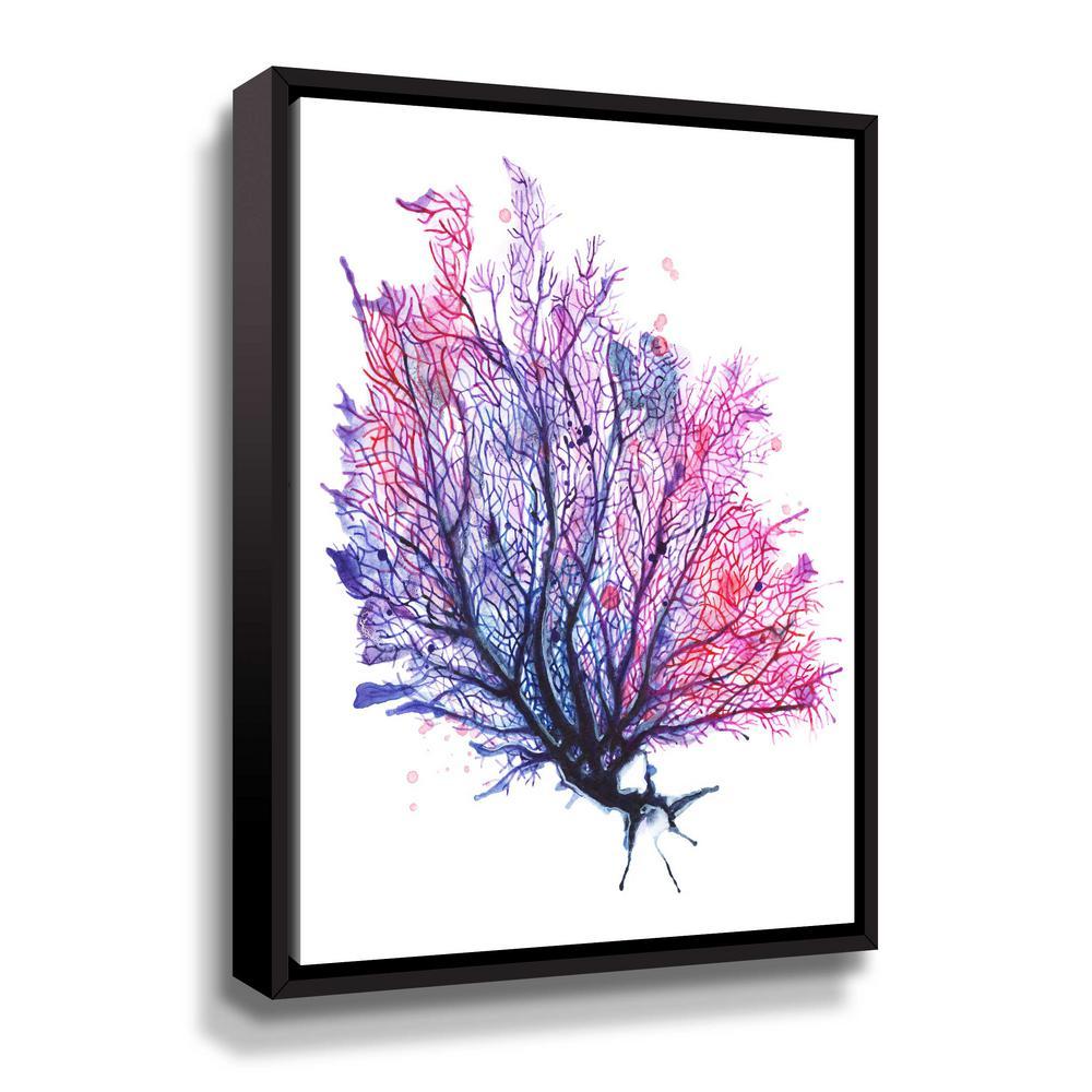 'Sea Fan - purple' by  Sam nagel Framed Canvas Wall Art