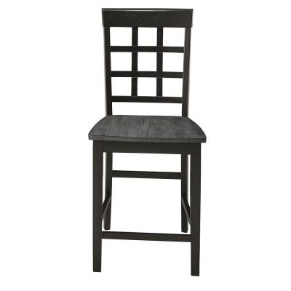 Salem Gray/Black Window Pane Counter Chairs (2-Count)