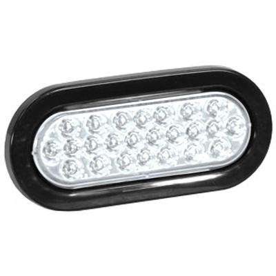 6 in. LED Oval Warning Light, Clear