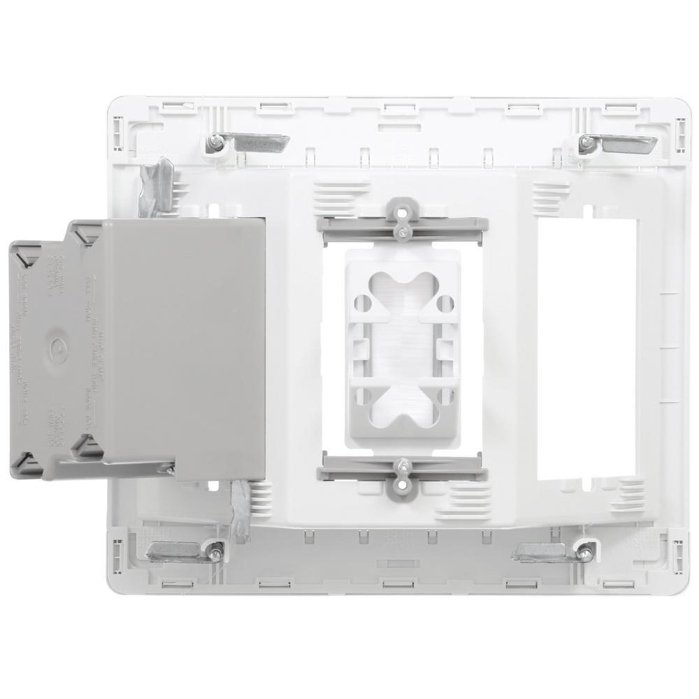 Pass /& Seymour Single-Gang Recessed Tv Box Kit BLACK