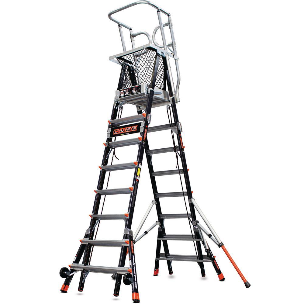 8 ft.-14 ft. Fiberglass 375 lbs. Rated Type IAA Adjustable Safety