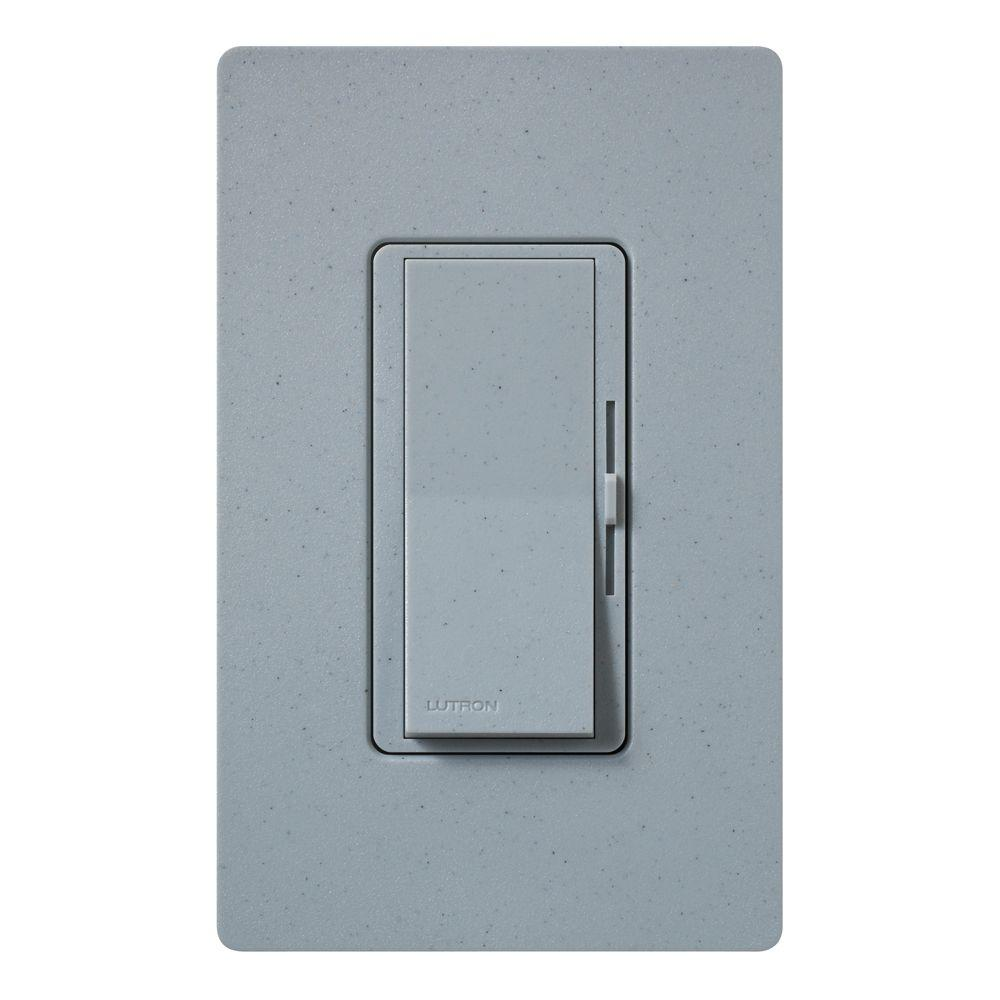 Diva Dimmer for Incandescent and Halogen, 600-Watt, Single-Pole, Bluestone