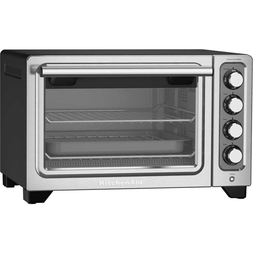 black stainless steel kitchenaid toaster ovens kco253bm fa_300 kitchenaid compact black nonstick interior countertop toaster oven
