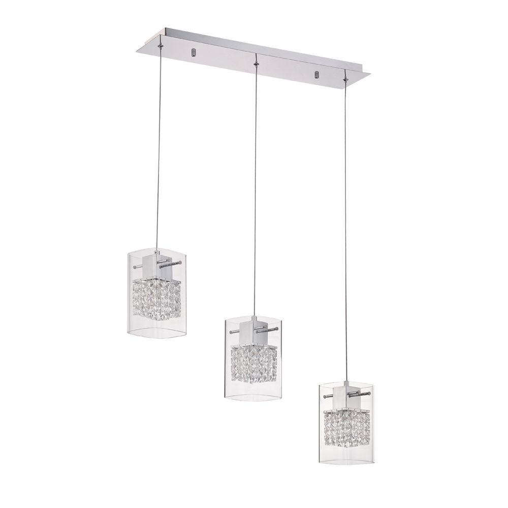 Politan Series 3 Light Chrome Pendant