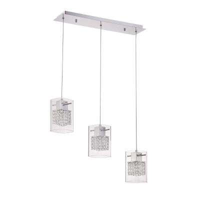 Politan Series 3-Light Chrome Pendant Bar