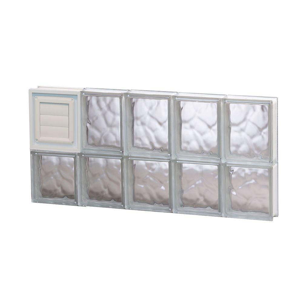 Clearly secure in x 13 5 in x in wave for Pre assembled glass block windows