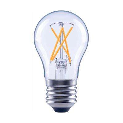 60-Watt Equivalent A15 Dimmable Clear Glass Decorative Filament Vintage Edison LED Light Bulb Daylight (48-Pack)