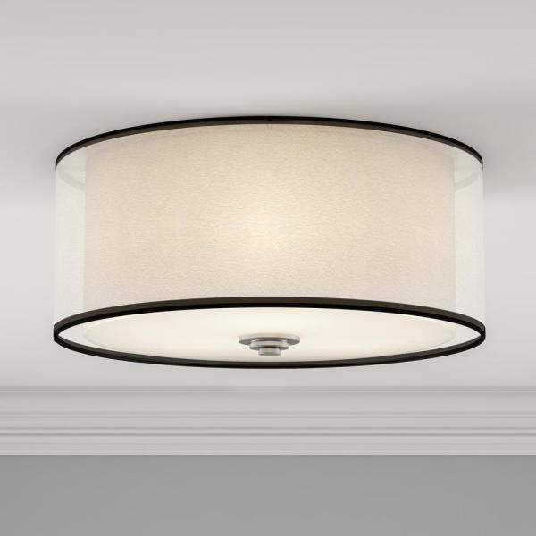 Maxim Lighting Orion 3 Light Flush Mount 23031swsn The Home Depot