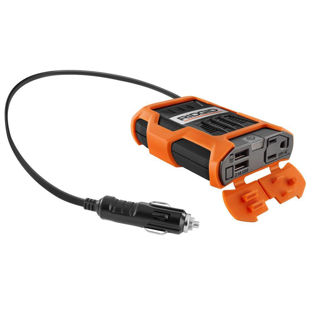 Ridgid 100 Watt Power Inverter Rd97100 The Home Depot