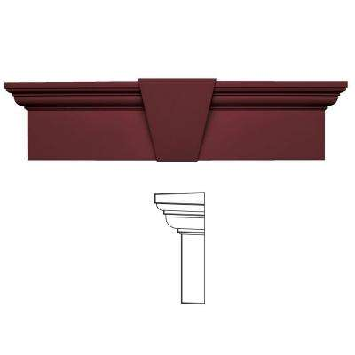9 in. x 33-5/8 in. Flat Panel Window Header with Keystone in 078 Wineberry