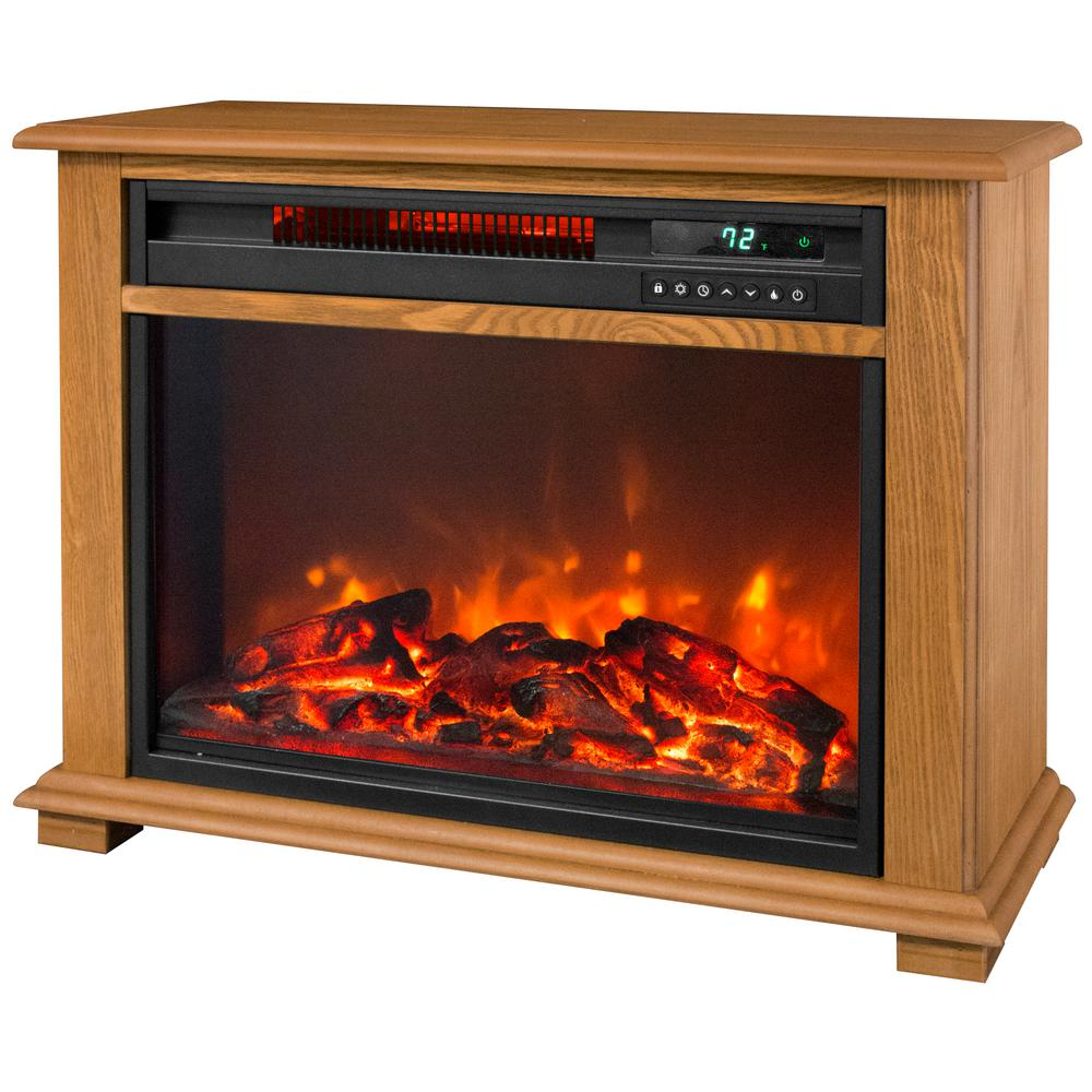 Electric Fireplace Heaters Home Depot: Lifesmart 28.5 In. Portable Fireplace Heater With
