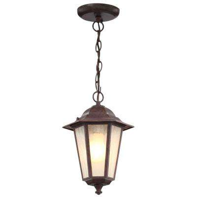 1-Light Outdoor Old Bronze Incandescent Pendant Light