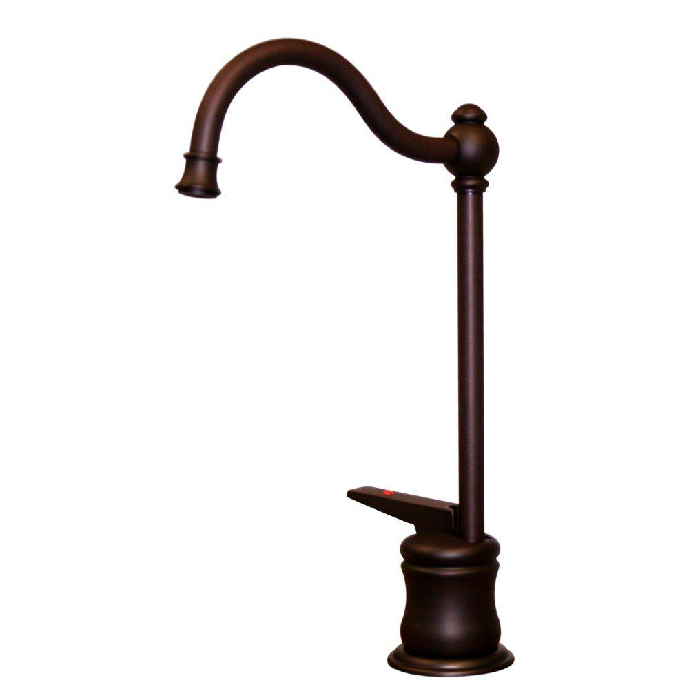 Whitehaus Collection Single-Handle Instant Hot Water Dispenser in Mahogany Bronze