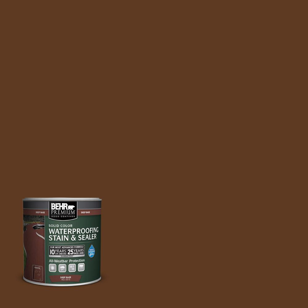 8 oz. #SC-129 Chocolate Solid Color Waterproofing Stain and Sealer Sample