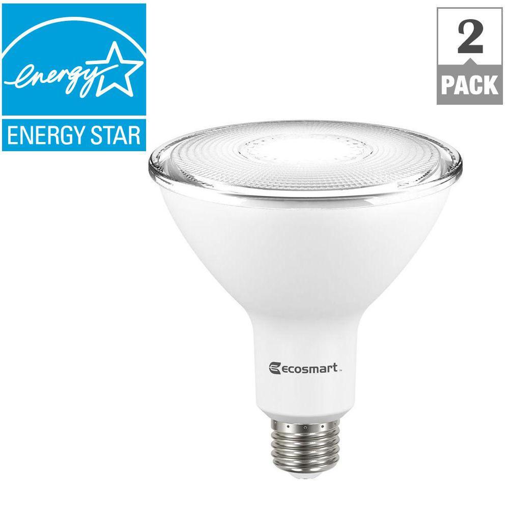 ecosmart 120 watt equivalent par38 dimmable led flood light bulb bright white 2 pack. Black Bedroom Furniture Sets. Home Design Ideas