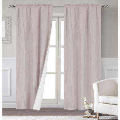 Polyester Extra Long Blackout Window Curtain Panel Pair With Thermal Lining In