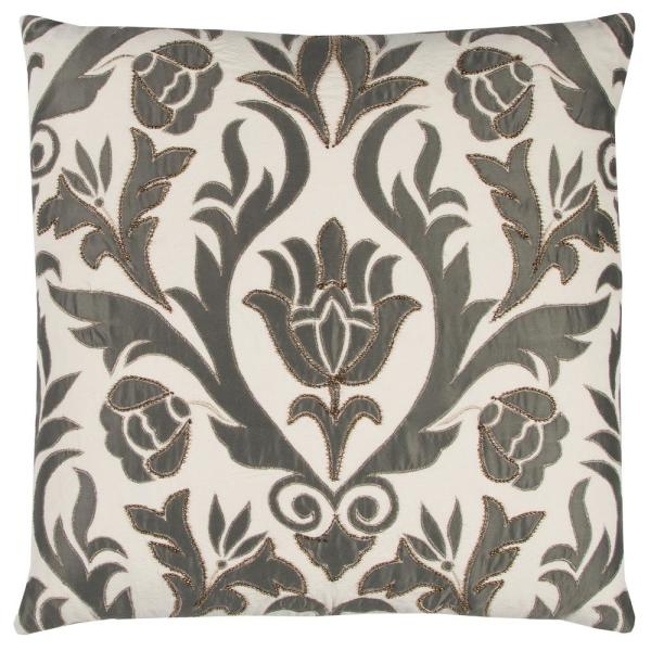 Donny Osmond Home Gray and Ivory Cotton 22 in. X 22