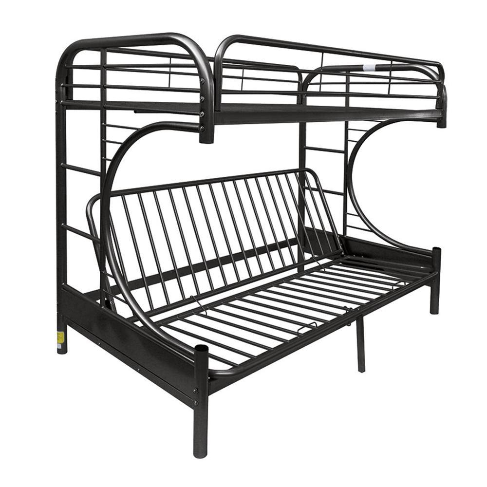 Twin Over Black Full Metal Bunk Bed Eclipse
