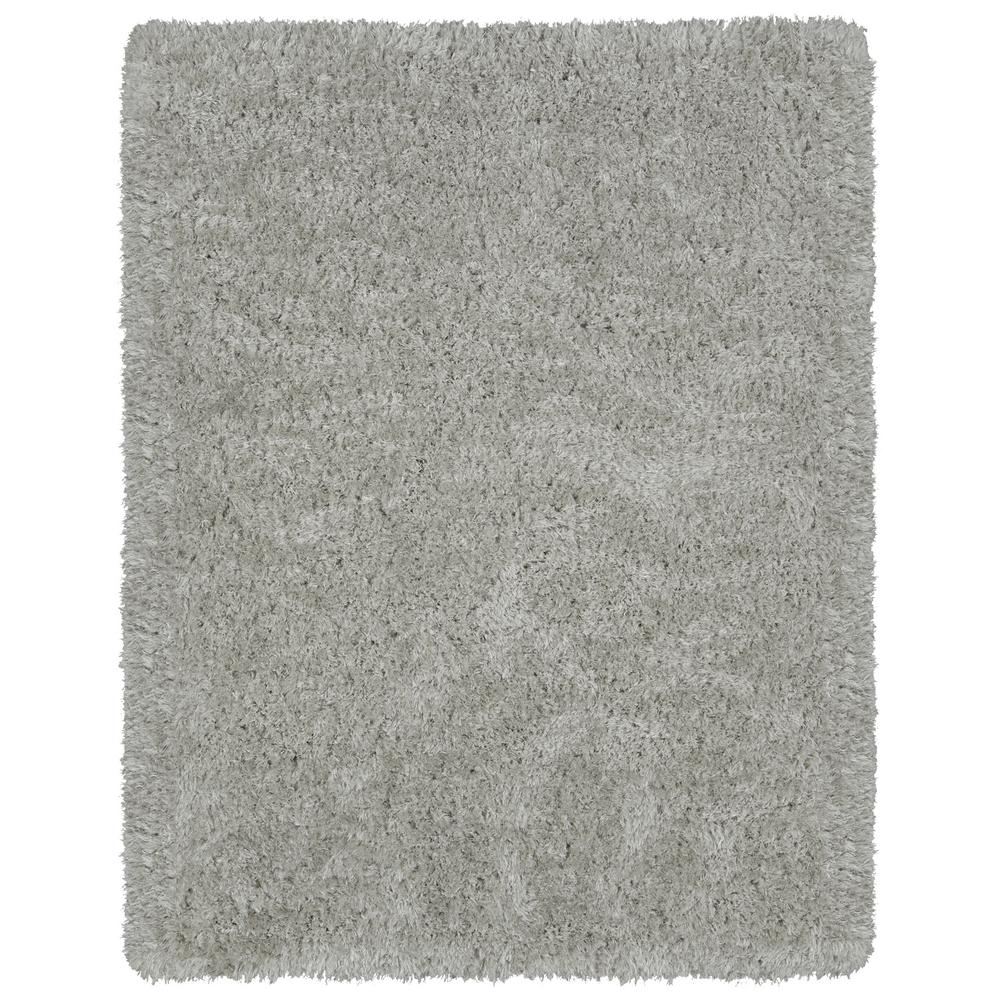 Ottomanson Pure Fuzzy Flokati Grey 8 ft. x 10 ft. Faux Sheepskin Indoor Kids Area Rug