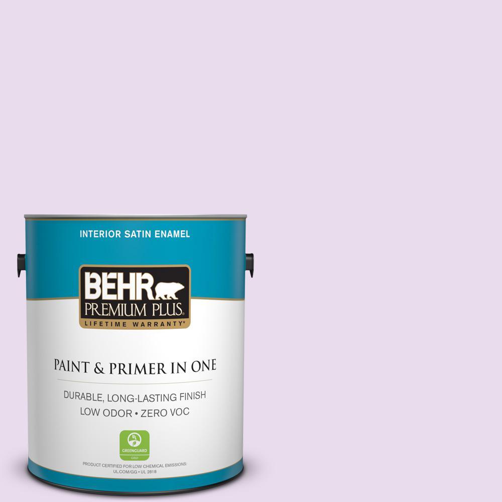 BEHR Premium Plus 1-gal. #P100-1 Sprinkle Satin Enamel Interior Paint