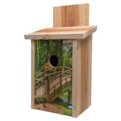 Wooden Bridge Design Cedar Blue Bird House