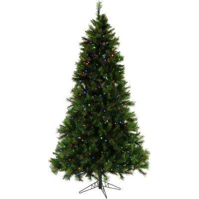 6.5 ft. Pennsylvania Pine Artificial Christmas Tree with Multi-Color LED String Lighting and Holiday Soundtrack