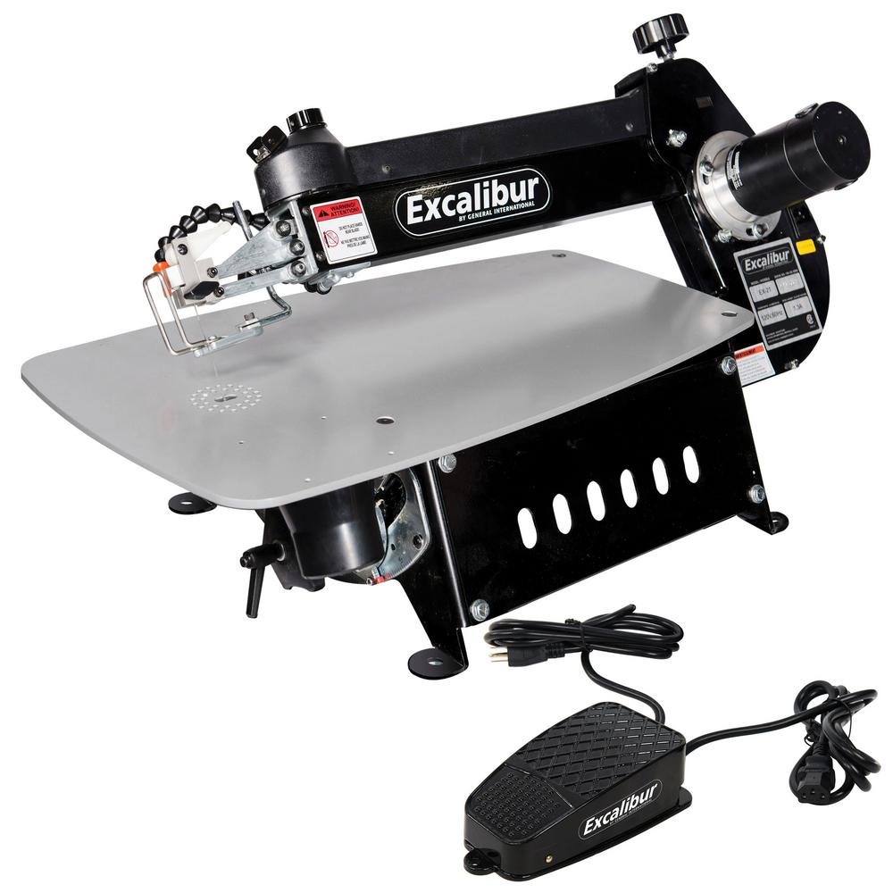 Excalibur 120-Volt 21 in. Tilting Head Scroll Saw with Foot Switch
