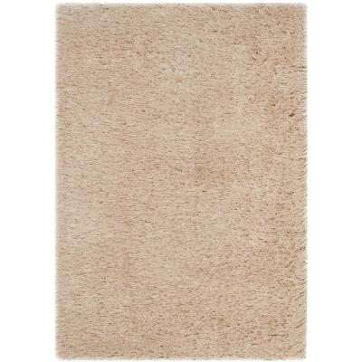 Venice Shag Champagne 2 ft. x 3 ft. Area Rug