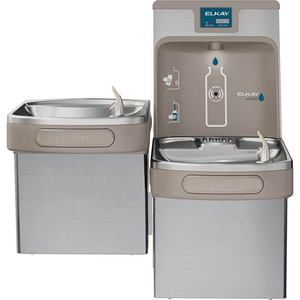 Elkay Filtered 8 GPH EZH2O ADA Stainless Steel Bi-Level Drinking Fountain  with Bottle Filling Station
