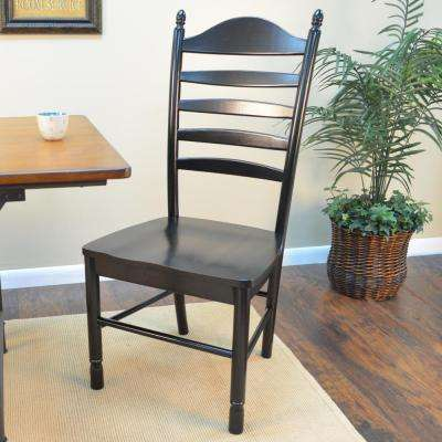 Whitman Antique Black Wood Dining Chair