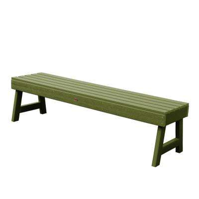 Weatherly 60 in. 2-Person Dried Sage Recycled Plastic Outdoor Picnic Bench