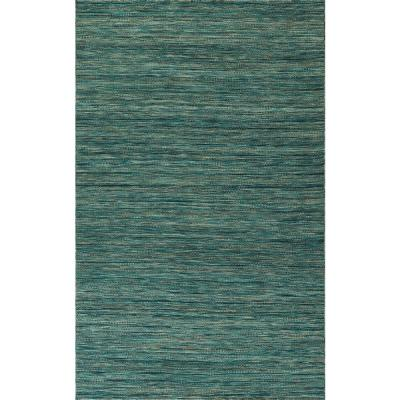 Walden Woven Wool Turquoise 8 ft. x 10 ft. Area Rug