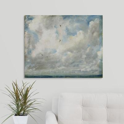 """30 in. x 24 in. """"Cloud Study, 1821"""" by  John Constable Canvas Wall Art"""