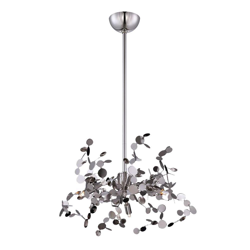 null Divo Collection 3-Light Nickel Pendant
