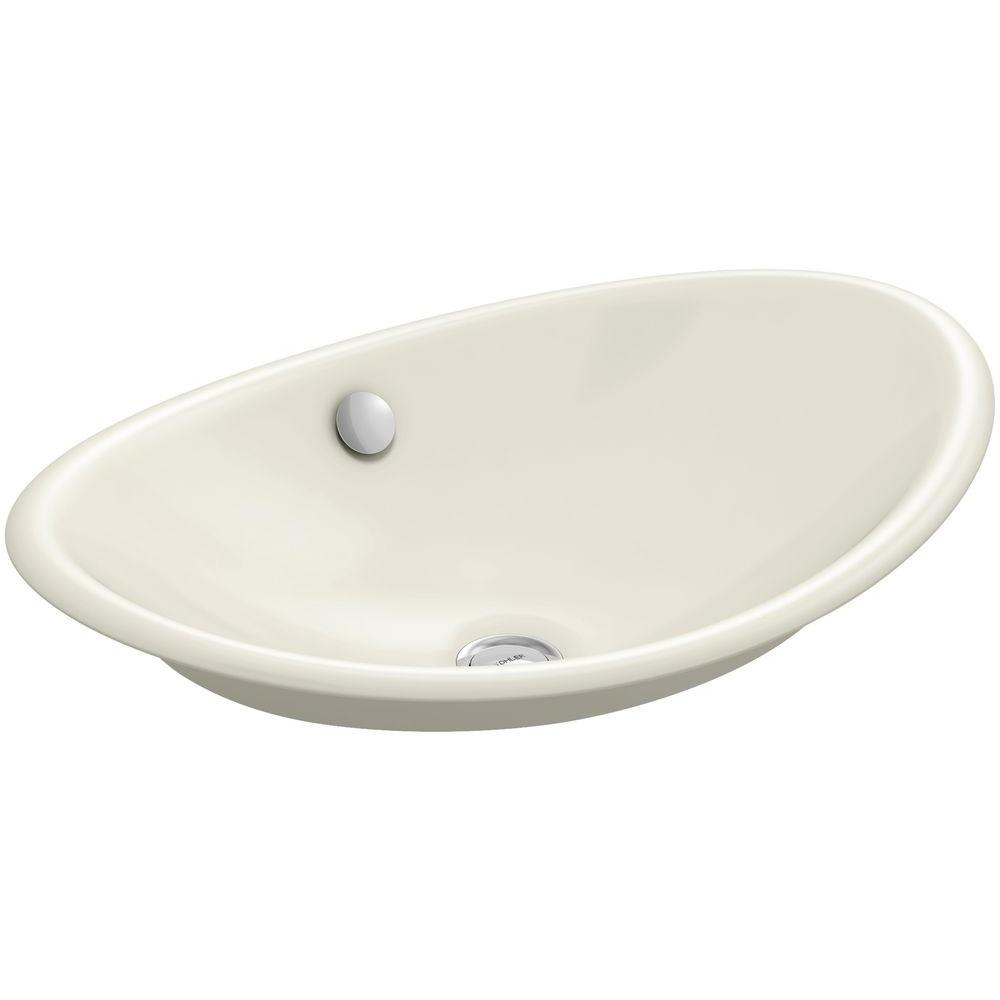 Iron Plains Cast Iron Vessel Sink in Biscuit with Biscuit Painted
