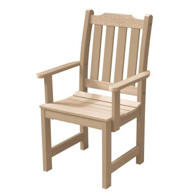 Lehigh Tuscan Taupe Recycled Plastic Outdoor Dining Arm Chair