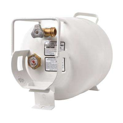 20 lbs. Horizontal Propane Tank Refillable Cylinder with OPD Valve and Gauge