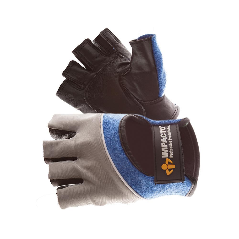 Extra Small Impacto Half-Finger Gel Work Gloves