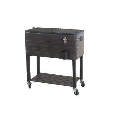 80QT Gray Wood Grain Finish Cooler