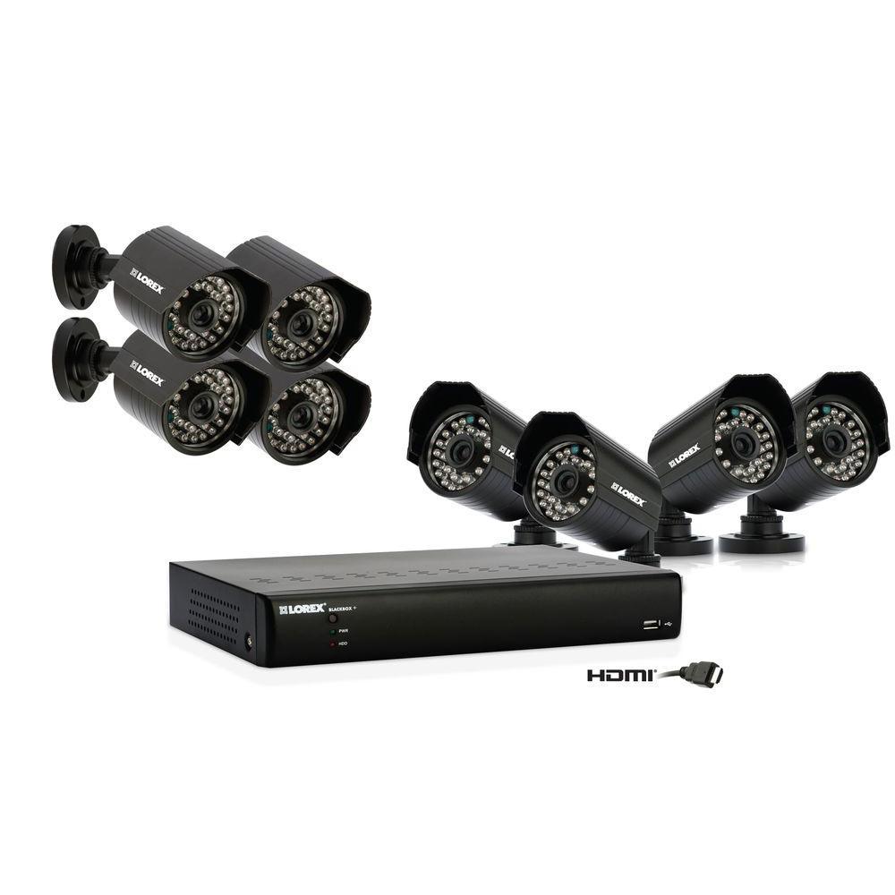 Lorex 16 CH 1TB Surveillance System with (8) 480TVL Indoor/Outdoor Cameras-DISCONTINUED