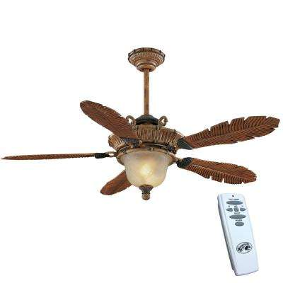 Downrod included clearance ceiling fans lighting the home depot indoor weathered cane ceiling fan with light kit and remote control aloadofball Images