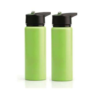 25 oz. Green Stainless Steel Sports Water Bottle (2-Pack)
