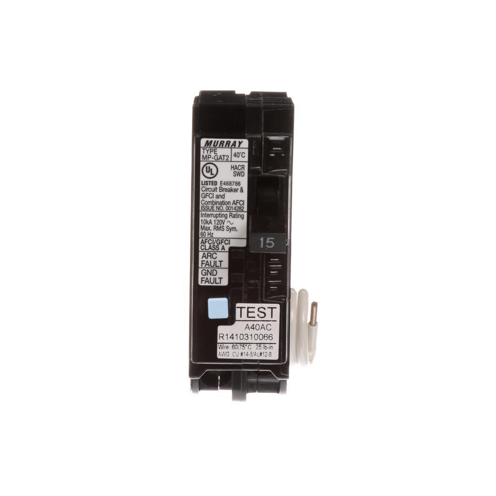 15 Amp AFCI/GFCI Dual Function Circuit Breaker