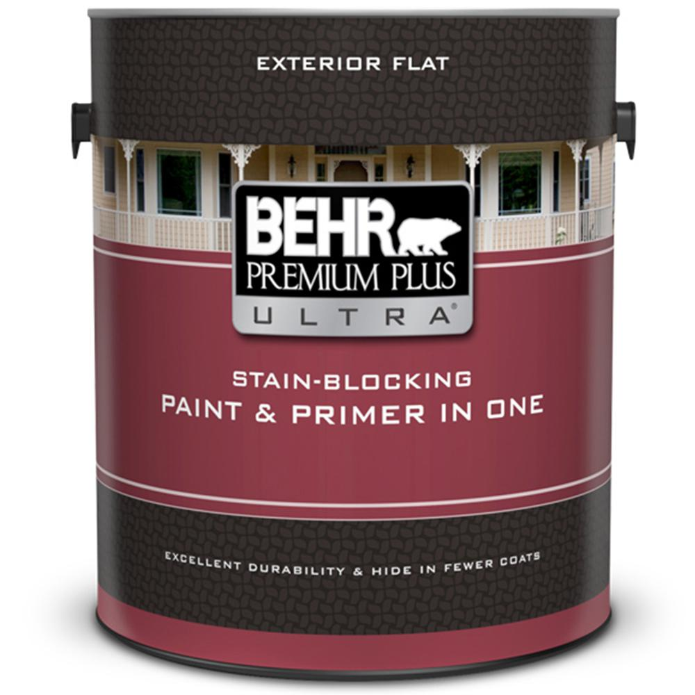 Ultra Pure White Flat Exterior Paint And Primer In One