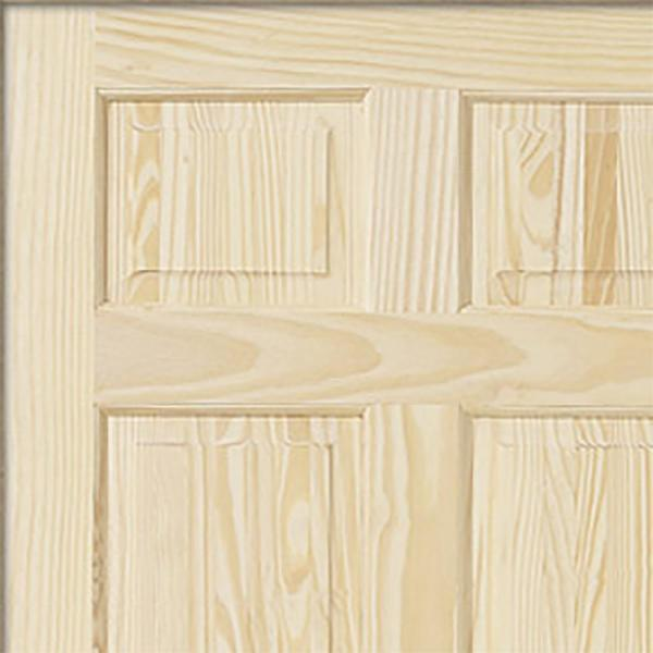 Jeld Wen 30 In X 80 In Pine Unfinished 6 Panel Solid Wood Interior Door Slab 5223 0 The Home Depot