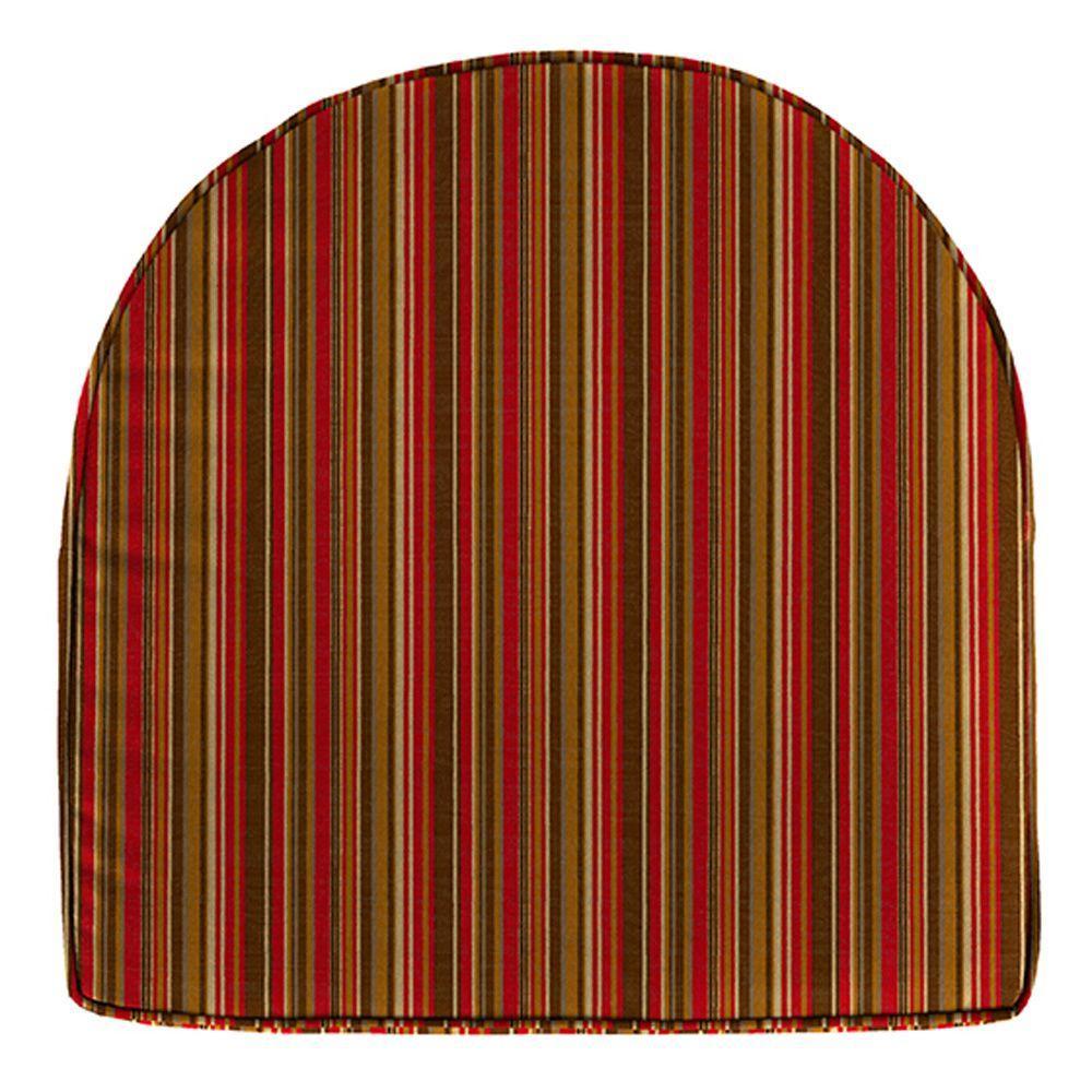 Home Decorators Collection Sunbrella Dorsett Cherry Contoured Outdoor Seat Cushion