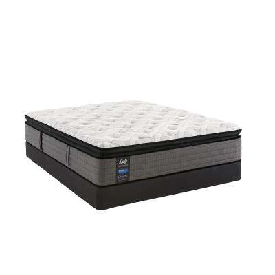 Response Performance 14 in. Queen Plush Euro Pillowtop Mattress Set with 9 in. High Profile Foundation