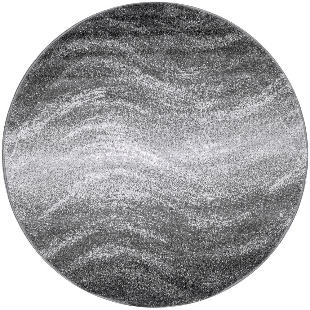 Gray 5 Ft Round Rug 05a R505