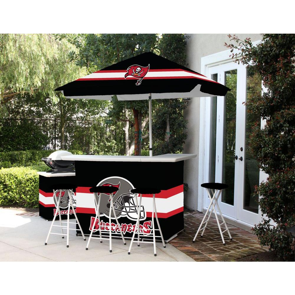 Best Of Times Tampa Bay Buccaneers All Weather Patio Bar Set With 6 Ft.