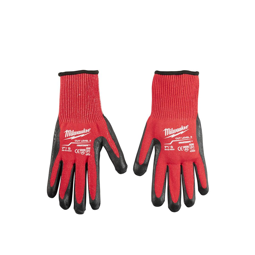 Milwaukee Small Red Nitrile Dipped Cut 3 Resistant Work Gloves (12-Pack)